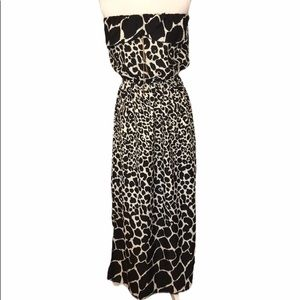 Speed Control mixed animal print strapless maxi
